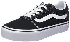 s Ward Platform Canvas Low-Top Sneakers, Black ((Canvas) Black/White 6 UK online. Shop the latest collection of Vans Women?s Ward Platform Canvas Low-Top Sneakers, Black ((Canvas) Black/White 6 UK from the popular stores - all in one Vans Classic Old Skool, Vans Old Skool, Nike Running, Vans Ward, Estilo Vans, Twisted X Boots, Zapatillas Nike Air, Women's Low Top Sneakers, Drew Shoes