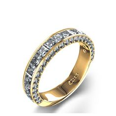 Sparkling 1 9/10 ctw Princess Diamond Ring 14k Yellow Gold