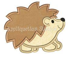Hedgehog Applique Machine Embroidery Design baby animal woodland INSTANT DOWNLOAD