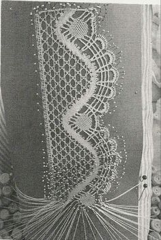 Bobbin lace is another technique of lacemaking. It's also known as pillow lace, and it is made by weaving threads wound on bobbins around pins holding a pattern to a pillow. Needle Tatting, Tatting Lace, Needle Lace, Lace Earrings, Lace Necklace, Bobbin Lace Patterns, Knitting Machine Patterns, Doily Patterns, Hairpin Lace Crochet