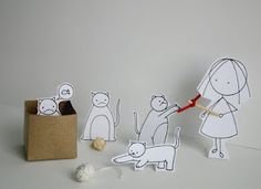 cute ways to entertain a cat! :D  (by cara carmina)
