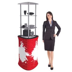 Triangle Display tower Counter, Triangle, Tower, Display, Fabric, Style, Fashion, Floor Space, Tejido