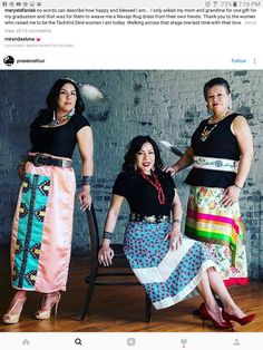 Diné Native American Clothing, Native American Fashion, Native Fashion, Pretty Outfits, Beautiful Outfits, Applique Skirt, Jingle Dress, Ribbon Skirts, Modern Outfits