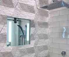 Tile a mirror in the shower to shave face Shower Mirror, Mirror Tiles, Mirrors, Master Bathroom, Bathtub, Bathrooms, Home Decor, Face