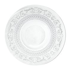 'Classica' Collection - Glass Breakfast Plate, s/6 -- Assiette plate en verre, D 25cm - lot de 6 | Maisons du Monde