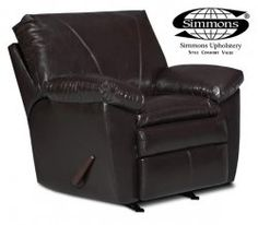 Lancaster Brown Leather Recliner by Simmons  #AFPinspiredHome