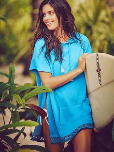 7a9666696a412 Hooded Poncho - Beach Terry - Victoria's Secret Shrug Sweater, Swimwear  Fashion, Fashion Tips