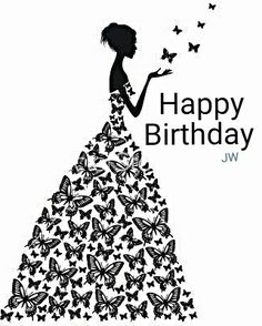 Black & White Birthday Card