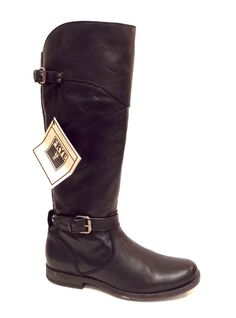 FRYE PHILLIP Black Leather Riding Boot