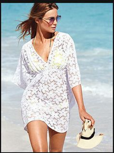 e947ac115e999 MG Collection Fashion Floral White Lace V-Neck Beach Swimsuit Cover Up Cover  yourself in sweet, stunning style with this beautiful beach cover-up!