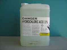 Hydrochloric acid is chemically written as HCl and is a strong acid known to have no color or smell. It is in fact a term to require a solution of hydrogen chloride and water. Hydrogen chloride is an acid that is an outcome of a response in between chlorine and hydrogen gas which results to an explosive development of the acidic gas. Ordinarily it is called muriatic acid, discovered in homes as a cleaning agent, yet extremely corrosive. http://www.thegreenbook.com/products/hydrochloric-acid/