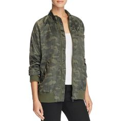 Members Only Satin Camo Boyfriend Bomber Jacket ($110) ❤ liked on Polyvore featuring outerwear, jackets, camo, camoflage jacket, camo print jacket, camo bomber jacket, bomber style jacket and blouson jacket