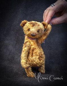 Cute Old Vintage retro jointed artist Teddy Bear OOAK handmade by Yumi Camui #AllOccasion