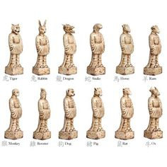 Chinese Zodiac Set of 12 | EmissaryBeautiful Outdoor Items For Your Garden Or Patio! #outdoors #outdoordecor #design #exteriors #exteriorhomescapes #exteriorhomescapes.com
