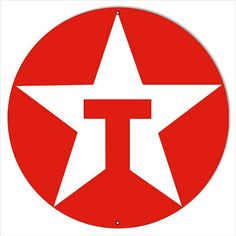Texaco Star Red T Gas Station Sign, Aluminum Metal Sign, 2 Sizes Available, USA Made Vintage Style Retro Garage Art by HomeDecorGarageArt on Etsy