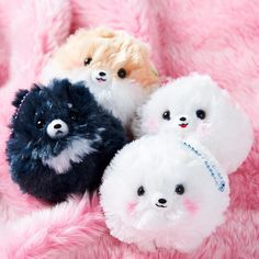 """Fuwa Fuwa Pometan is Amuse's super popular collection of big, round Pomeranian plushies! Choose from Pometa, Pometan, Pomemaru and Pomeko, or pick up the complete set. These pretty puppies are primed for some champion-level hugging. These are the bigger mascot size (approx. 3.5"""") which each have a little ball chain on their heads so you can attach them to your bag or keys and always have a fluffy ... #tokyootakumode #plushie"""