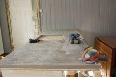 Prinsesse Vilikkes Hus: Hvordan støpe benkeplate i betong?