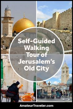 Use this guide to take your own self-guided walking tour of Jerusalem's Old City including all 4 quarters and major sites, complete with map of attractions. Travel Tours, Asia Travel, Travel Guides, Travel Destinations, European Travel, Tel Aviv, Jerusalem Travel, Old City Jerusalem, Israel Travel