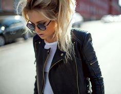 love ...Balmania Leather Jacket by MINUSEY via Fancy