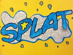 Onomatopoeia Art...what a great activity to do when learning about onomatopoeia! Kids would never forget it!