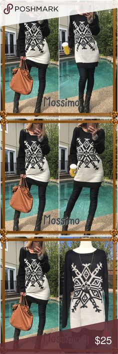 ☕️Mossimo☕️ Brand new fabulous long warm tunic sweater-I'm always chilly come night until late summer here so these are fab to keep on hand for those nights you need something warm yet looking fabulous!. Polyester-acrylic blend NWT-snag it Mossimo Supply Co Sweaters