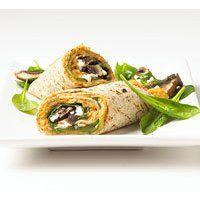 Portobello Wrap with White Bean-Chile Spread