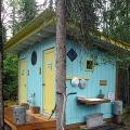 Fancy outhouse in Talkeetna, Alaska