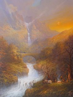 The Road to Rivendell... a painting by Joe Gilronan