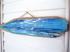 Large Painted Driftwood Wall Hanging Painted di gardenstones
