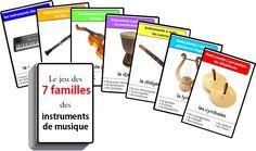 Hra sedmi rodin hudebních nástrojů - 7 rodin hudebních nástrojů k tisku Montessori, Cup Song, Music Gadgets, Free Frames, Music Activities, Cycle 3, Music For Kids, Music Education, Mardi Gras
