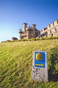 On the way to Santiago de Compostela you must stop at this impressive Castle of Ponferrada, Castilla y Leon.