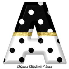 Alphabets by Monica Michielin Polka Dot Letters, Letter A Crafts, Letter B, Black Letter, Wooden Letters, Monogram Letters, Polka Dots, Alphabet, Smoke Background