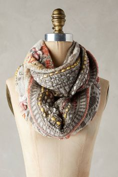Anthropologie Alois Embroidered Infinity Scarf #gift #anthrofave