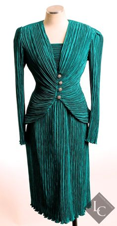 Vintage size 12 Teal Green 2 Piece Skirt Suit on Etsy, $90.00