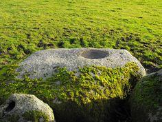 A Bullaun for 'Tsukubai', Kildreenagh, Ecclesiastical Site, Co. Carlow, Ireland