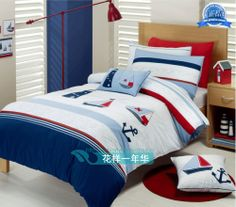Duvet-cover-Applique-embroidered-boy-navy-blue-sailing-boat-child-bedding-set.jpg (500×439)