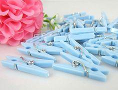 Fun Express Mini Clothespin Party Favors Pastel Blue - 48 Pieces