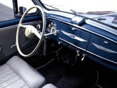 car interior decoration: Interior Car 1952 Peugeot 203