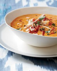 Creamy Piquillo Pepper and Chickpea Soup with Chicken Recipe on Food & Wine