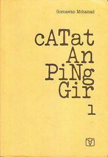 """""""Catatan Pinggir 1"""" Goenawan Mohamad #buku #sewabuku #perpustakaan"""