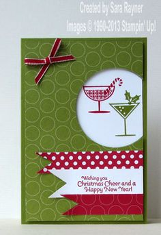 Happy hour christmas card - Stampin' Up!