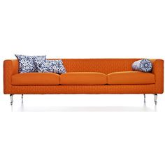 Leather Sofas Moooi Boutique Delft Blue Triple Seater Sofa liked on Polyvore featuring home