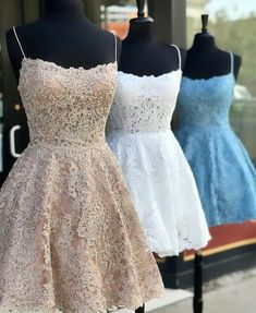 Outlet Luscious Homecoming Dresses, Lace Homecoming Dresses, Vintage Homecoming Dresses,Spaghetti Straps Mini Party Dresses For Girls Vintage Homecoming Dresses, Hoco Dresses, Pretty Dresses, Sexy Dresses, Strapless Dress Formal, Vintage Dresses, Beautiful Dresses, Vintage Lace, Luulla Dresses