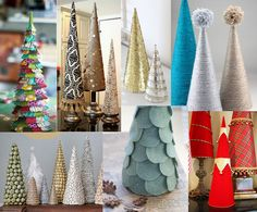 December Pinterest Party: DIY Mini Christmas Trees
