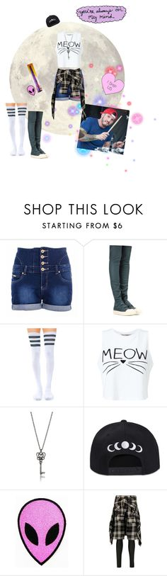 """""""Drum practice with Josh"""" by oxxnjaxxo ❤ liked on Polyvore featuring Quiz, Rick Owens, Leg Avenue, Miss Selfridge and R13"""