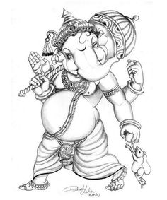 Trendy Bird Tattoo Line Tatoo Ganesha Sketch, Ganesha Drawing, Lord Ganesha Paintings, Ganesha Art, Krishna Painting, Shri Ganesh, Shiva Sketch, Ganesh Tattoo, Tattoo Bird