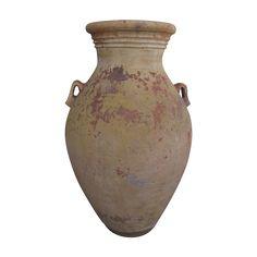 "Large Vintage Terra Cotta Garden Pot Urn Side Handles 44"" Tall  AR.43 #DIYWeekendRubyLane  #vintagegarden"