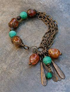 Carnelian Agate Bracelet Published in Stringing Fall by RustyRoxx