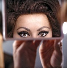 The eyes of Sophia Loren photographed by Chiara Samugheo, 1960s.