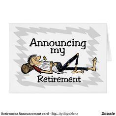 Retirement Announcement card - Rip VanWinkle